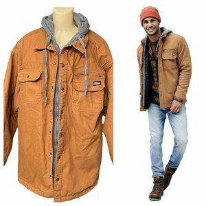 Dickies Quilted Duck Brown Full Zip Jacket Sz 3X